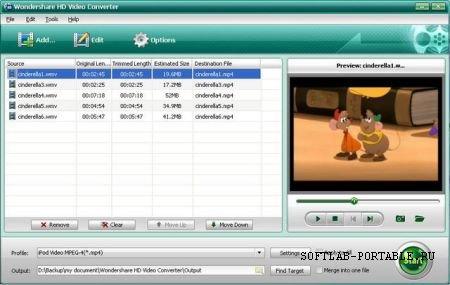 Wondershare HD Video Converter 4.2.0.57 Portable