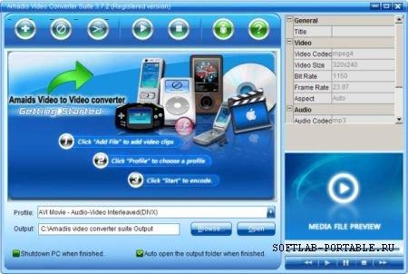 Amadis Video Converter Suite 3.7.9 Portable