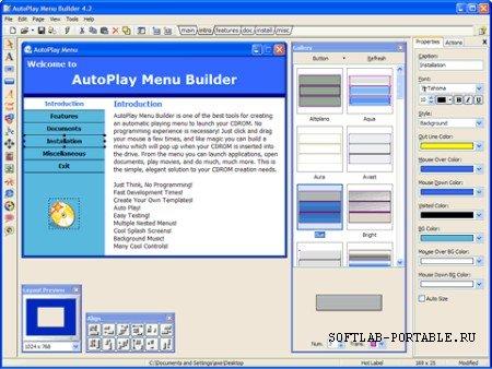 AutoPlay Menu Builder 7.3.0 Build 2399 Portable