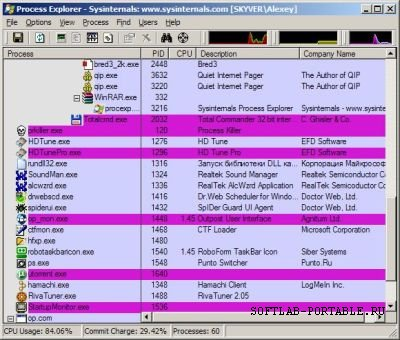 Process Explorer 16.40 Portable