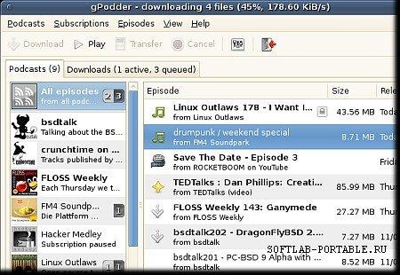 gPodder 3.10.20 Portable